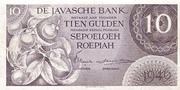 10 Gulden/Roepiah – avers