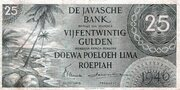 25 Gulden (De Javasche Bank) – avers