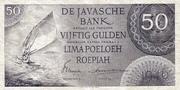 50 Gulden/Roepiah – avers
