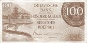 100 Gulden/Roepiah – avers