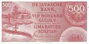 500 Gulden/Roepiah – avers