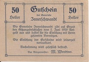 50 Heller (Innerschwandt) – avers