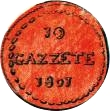 10 Gazettae (dénomination en italien) – revers