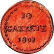 10 gazettae (dénomination en italien) – revers