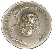 50 para - George III – avers