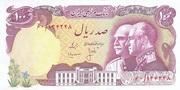100 Rials  (Mohammad Rezā Pahlavī -50th anniversary) – avers