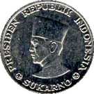 10 sen (Sukarno) – avers