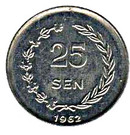 25 sen (Sukarno) – revers