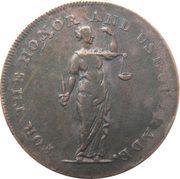 ½ Penny (Dublin - Talbort Fyan) – avers