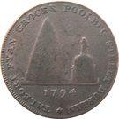 ½ Penny (Dublin - Talbort Fyan) – revers