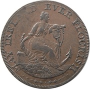 ½ Penny (Dublin - Parker's) – avers