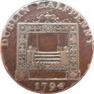 ½ Penny (Dublin - Parker's) – revers