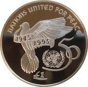 1 livre (Nations Unies) – revers