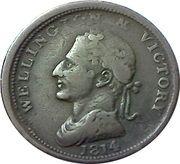 1 Penny (Wellington - Edward Bewley) – avers