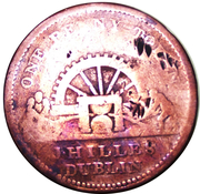 1 Penny (Dublin - J. Hilles) – avers