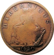1/2 Penny (Hibernicus) – revers