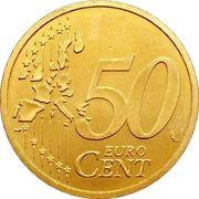 50 cents d'euro (1ère carte) – revers