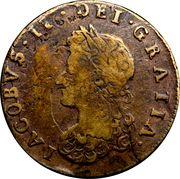½ Penny - James II (pièce obsidionale) – avers