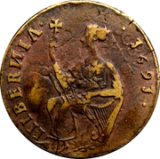 ½ Penny - James II (pièce obsidionale) – revers