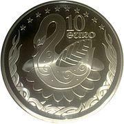 10 euros Élargissement de l'UE – revers