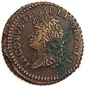 12 Pence - James II (Gun Money Coinage) – avers