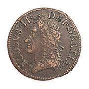 ½ crown - James II – avers
