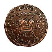 ½ crown - James II – revers