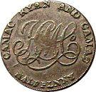 ½ penny (Camac Kyan et Camac, Dublin) – revers