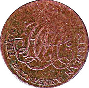 ½ penny (Turner Camac) – revers