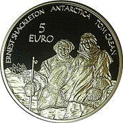 5 euros Année polaire internationale – revers