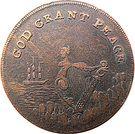 ½ Penny (Dublin - God grant Peace) – avers