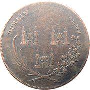 ½ Penny (Dublin - God grant Peace) – revers