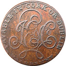 ½ Penny (Cork - J E & Co) – revers