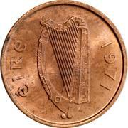 ½ penny -  avers