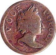 ½ Penny 1760 - 'Voce Populi' – avers