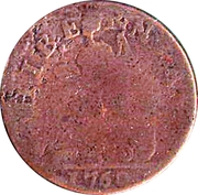½ Penny 1760 - 'Voce Populi' – revers