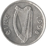 5 pence (type petit) -  avers