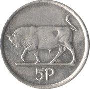 5 pence (petit module) -  revers
