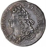 ½ penny - James II – avers