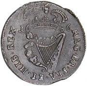 ½ penny - James II – revers