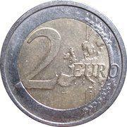 2 euros Traité de Rome -  revers