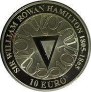 10 euros Sir William Rowan Hamilton – revers