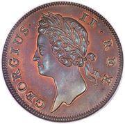 ½ penny - George II (petites lettres) – avers