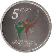 5 euros JO handicapés mentaux – revers