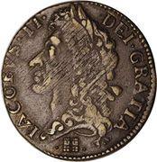 1 shilling - James II – avers