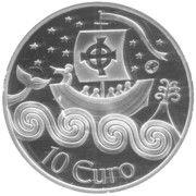 10 euros Saint-Brendan le navigateur – revers