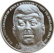 10 euros John Fitzgerald Kennedy – revers