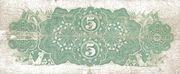 5 Dollars – revers