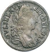 ½ penny Guillaume III – avers