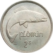 1 flóirin / 2 scilling -  avers